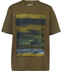 t-shirt men plus olivgrön