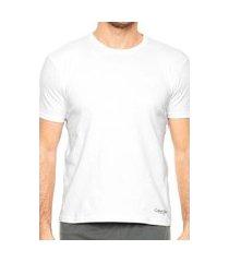kit 2 camisetas calvin klein branco