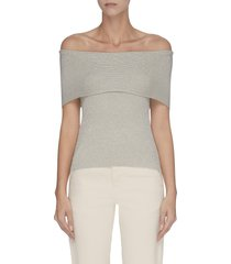 'lurex' off-shoulder sleeveless knit top