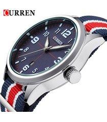 curren casual watch luxury wristwat auto date sports wat clock relogio masculio
