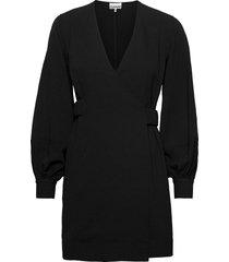 heavy crepe korte jurk zwart ganni
