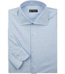 dash-print cotton dress shirt