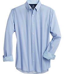 con. struct light blue dot slim fit sport shirt