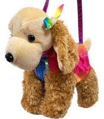 bolsa minas de presentes cachorro marrom/colorido