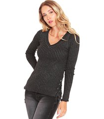 sweater wados jasp negro - calce ajustado
