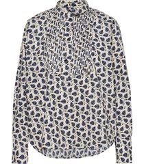 sonna blouse lange mouwen blauw munthe