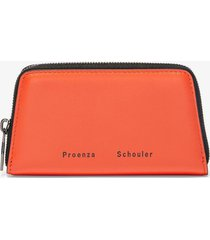 proenza schouler trapeze zip compact wallet hotcoral/orange one size