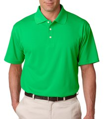 ultraclub 8445 men's stain-release polo shirt - cool green