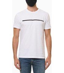 camiseta masculina estampa linha branca calvin klein jeans - pp