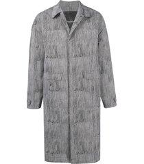 a-cold-wall* abstract-print padded jacket - grey