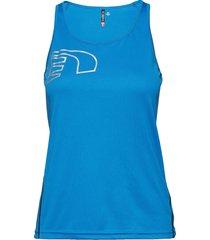 core coolskin singlet t-shirts & tops sleeveless blå newline