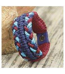 men's wristband bracelet, 'royal braid' (ghana)