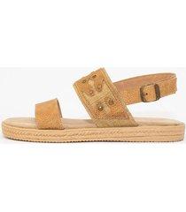 sandalia de cuero suela vemmas juji