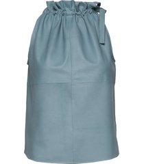 13634 knälång kjol blå depeche