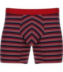 boxer lineas de colores color azul, talla s