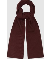 reiss rafferty - ribbed knitted scarf in bordeaux, mens