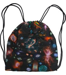 mochila saco cordinha alkary galaxia preta