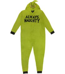 matching men's the grinch hooded pajamas, online only