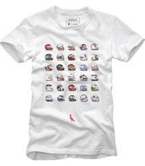 camiseta capacetes reserva branco - branco - masculino - dafiti