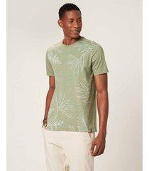 camiseta tradicional folhagem em mouline malwee verde musgo - p