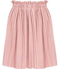 plisse rok pastel roze