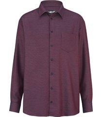 overhemd men plus berry/marine