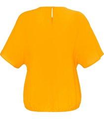 blouse met korte mouwen van emilia lay oranje