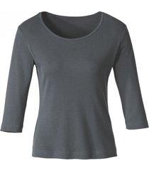 biokatoenen shirt met ronde hals, leisteen 40/42