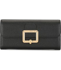bally jinney leather wallet - black
