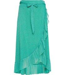 abby skirt knälång kjol grön résumé