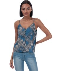 only womens diana scarf print cami top size 12 in blue