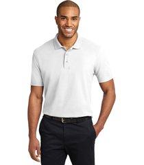 port authority k510 soil & stain-resistant polo shirt - white