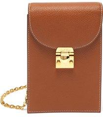 francis' grainy leather crossbody bag