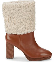 nella faux shearling & leather booties
