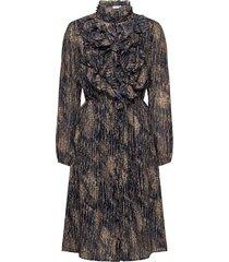 lillysz dress knälång klänning brun saint tropez