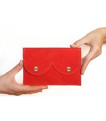 portfel czerwony zamsz róż