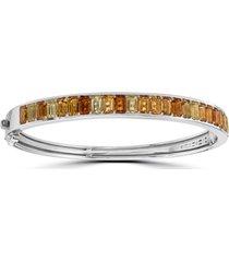 effy citrine (5-1/3 ct. t.w.) & lemon quartz (1-5/8 ct. t.w.) bangle bracelet in sterling silver