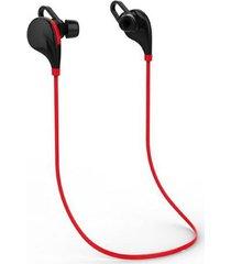 audífonos bluetooth manos, deportes de inalámbrica audifonos bluetooth manos libres  v4.1 stereo headset comando de voz de doble modo de espera para el iphone 6 6 plus samsung xiaomi htc movil (redblack)