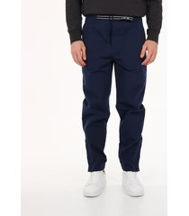 dior homme technical trousers blue