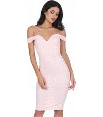 ax paris off the shoulder strappy lace dress
