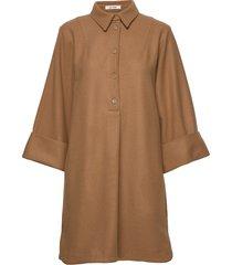 margot dress knälång klänning brun nué notes