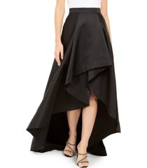 adrianna papell petite high-low mikado skirt