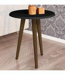 mesa de canto redonda brilhante 2074955 preto fosco - bechara móveis