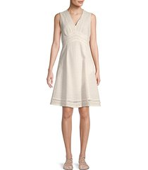 mini eyelet fit-and-flare dress