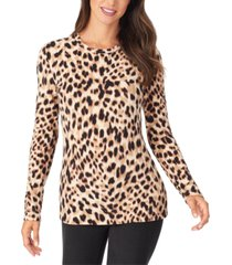 cuddl duds fleece with stretch long-sleeve top