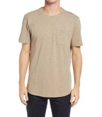 paige men's kenneth pocket t-shirt, size medium in soft tan at nordstrom