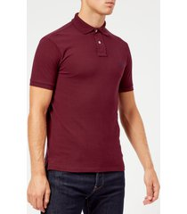 polo ralph lauren men's short sleeve slim fit polo shirt - classic wine - xxl
