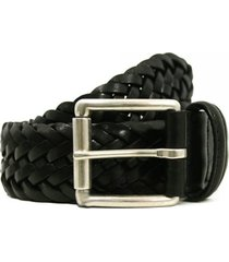 anderson's belts braided leather belt | black | 56937020