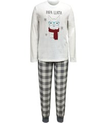 matching men's holiday llama family pajama set, created for macy's