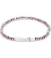 'mini click' silver disc beads bracelet